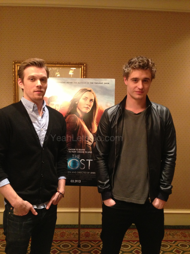 Jake Abel and Max Irons